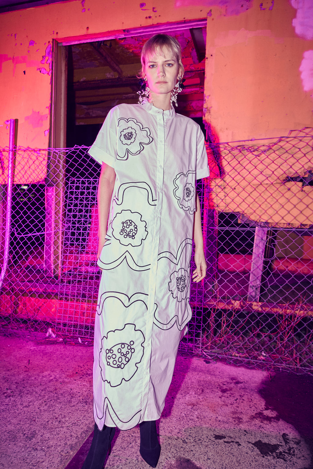 WHEN DOVES CRY MAXI SHIRT DRESS