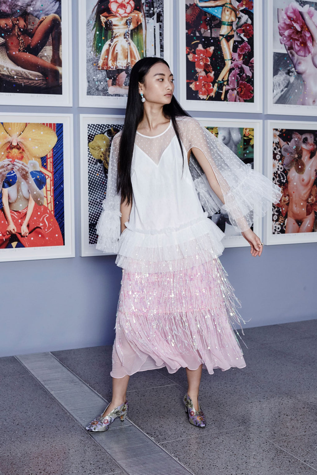 Milky Way Tulle Blouse