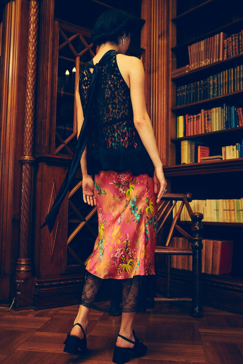 Tenderly Brocade Silk Slip Skirt
