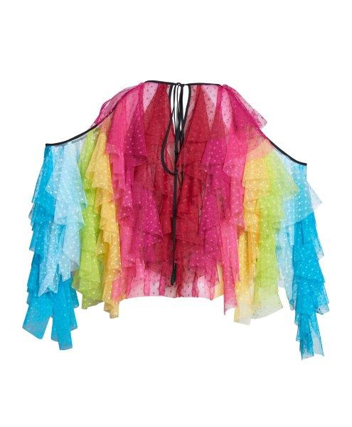 RAINBOWS EDGE FRILL TOP