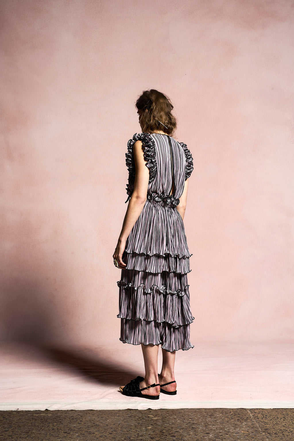 Blossoming Pleat Dress