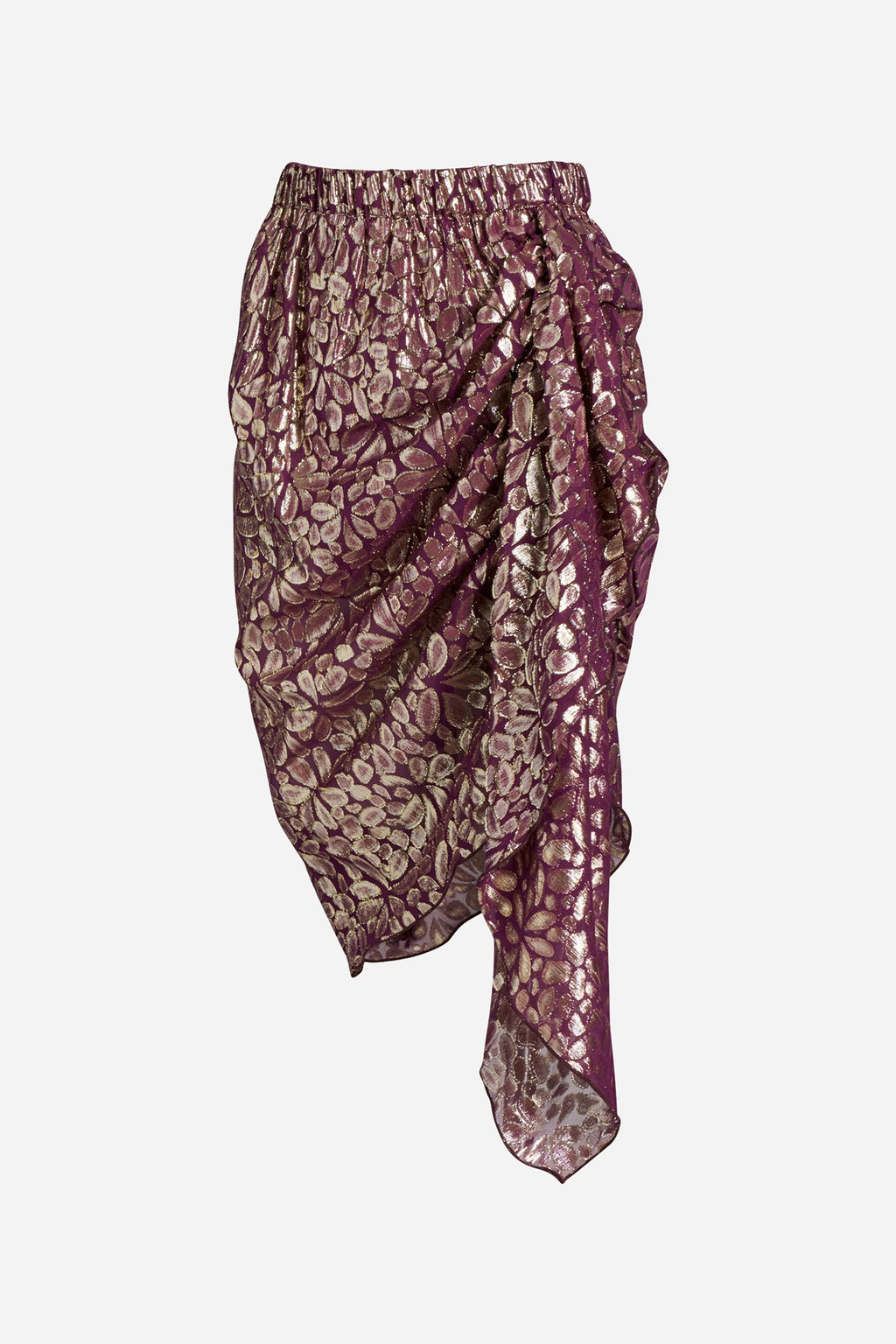 DISCO PAISLEY WRAP SKIRT