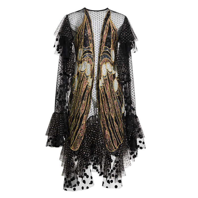 EXOSKELETON LACE DRESS