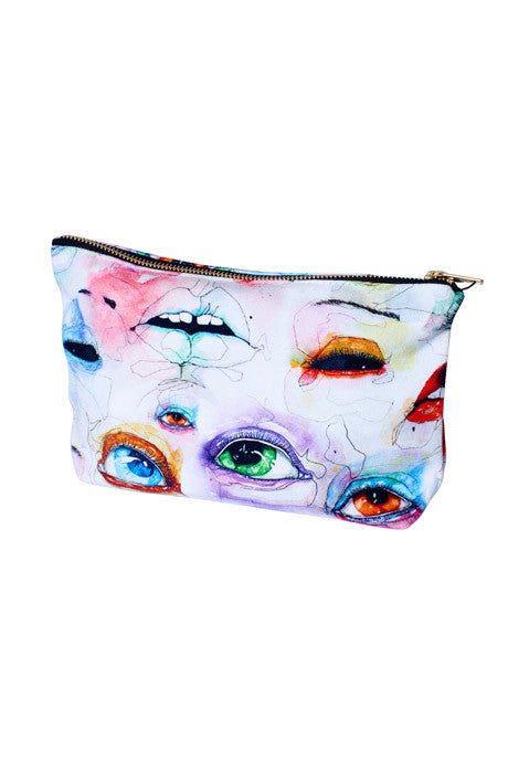 3D Purse (Eyes - Black zip)