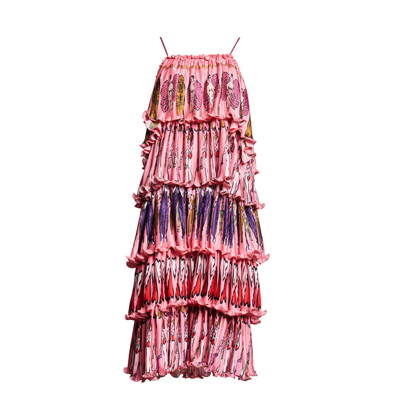 FORTUNY GODDESS COLUMN DRESS