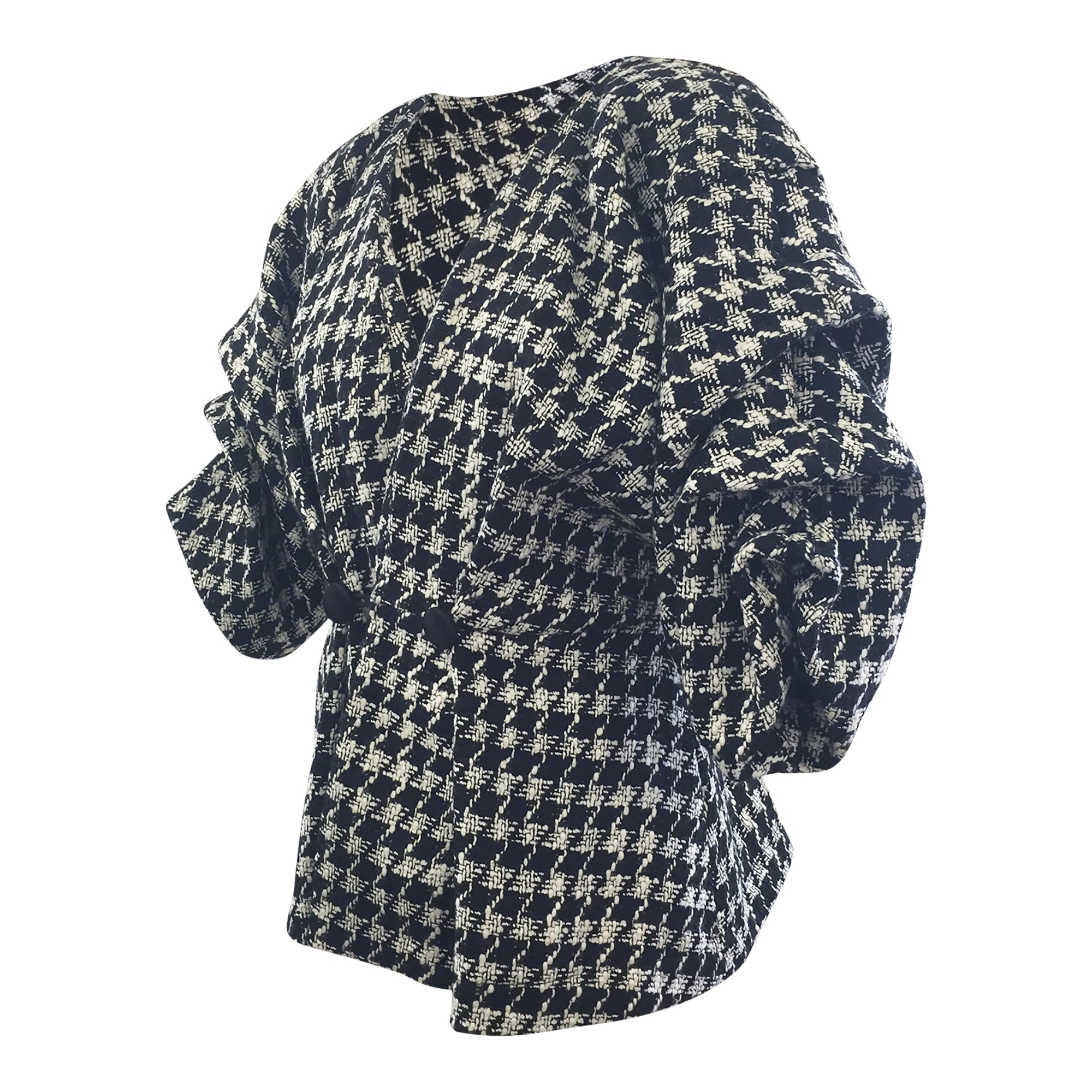 Venus Houndstooth Cropped Jacket