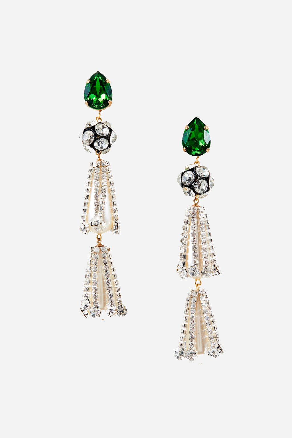 Kindness Emerald & Pearl Earrings