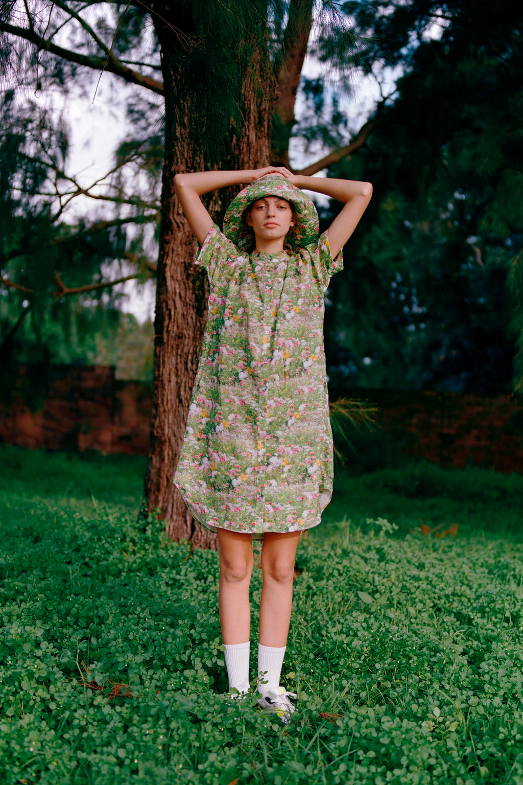 LACY GARDENS SHIRT DRESS