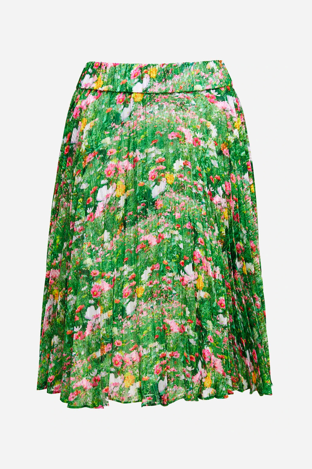LACY GARDENS PLEAT SKIRT
