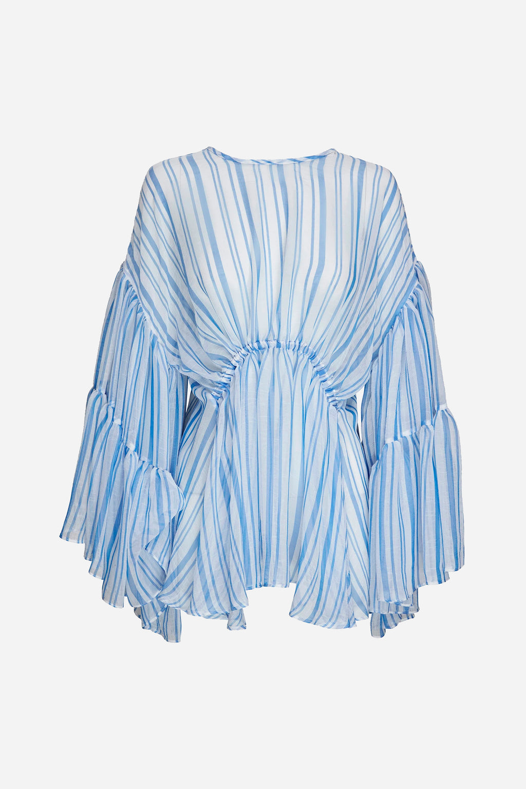 LOUIS STRIPE TIER BLOUSE