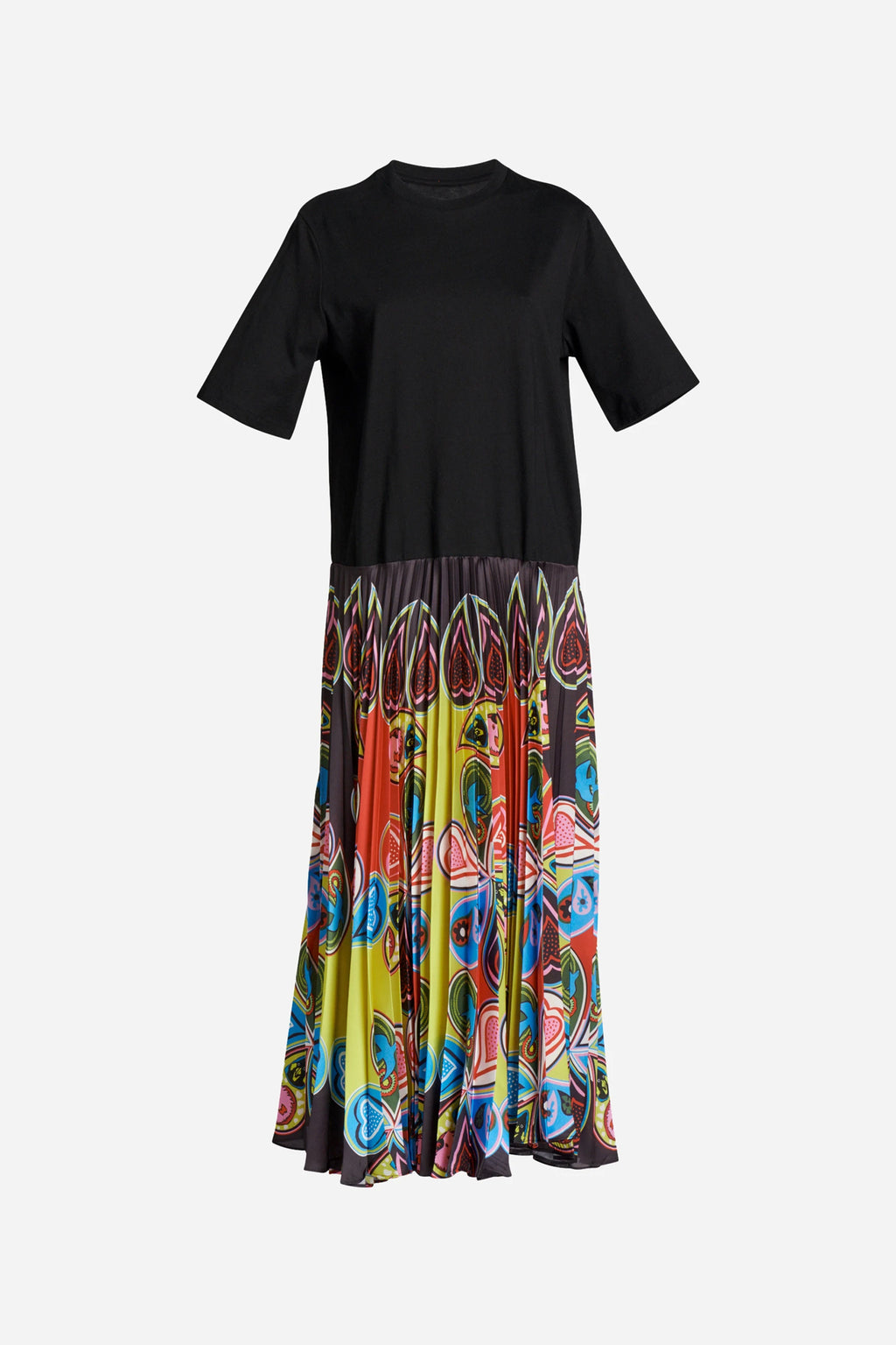 PAGAN PAISLEY PLEAT TEE DRESS