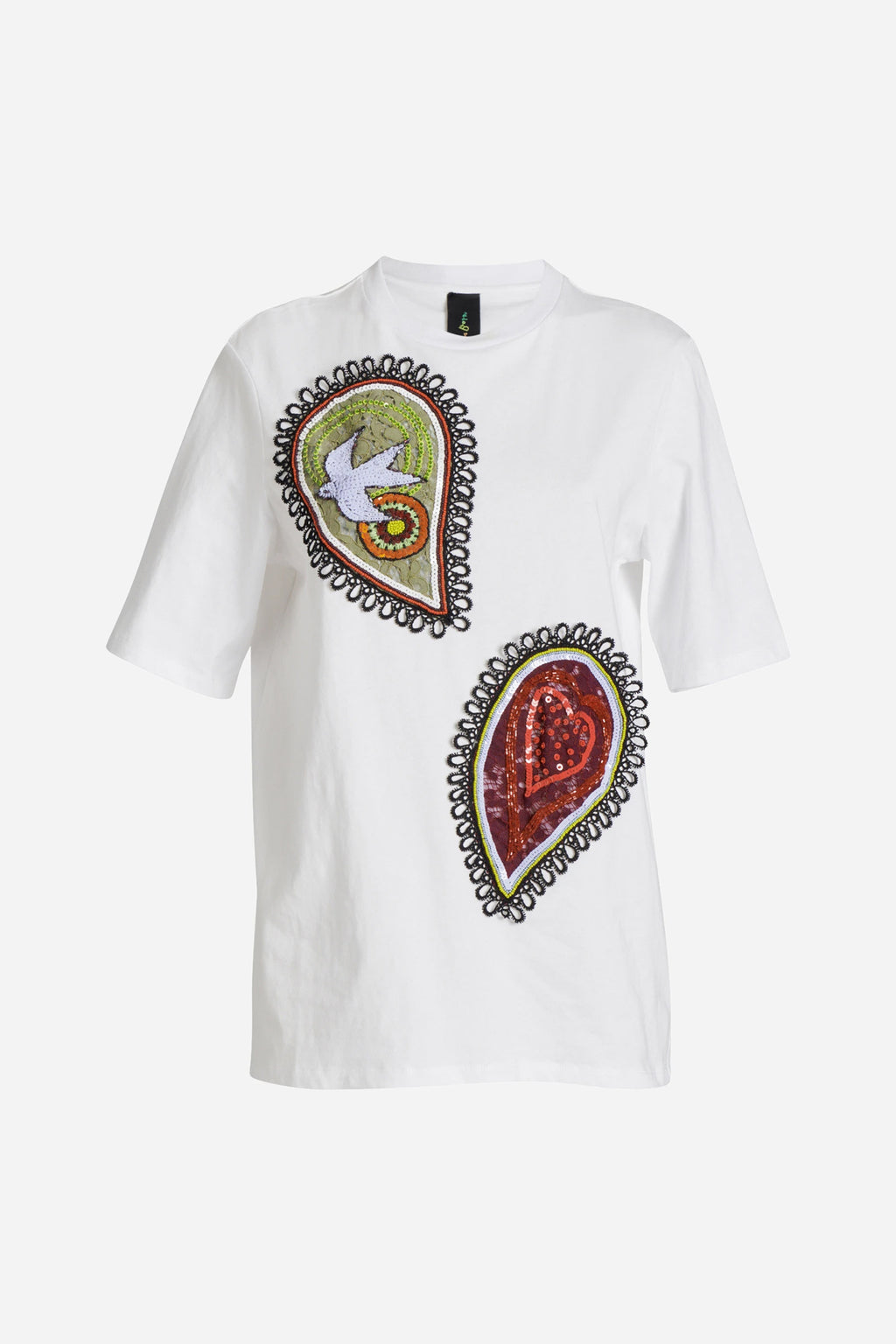 PAISLEY POWER TEE WITH PAISLEY PATCHES