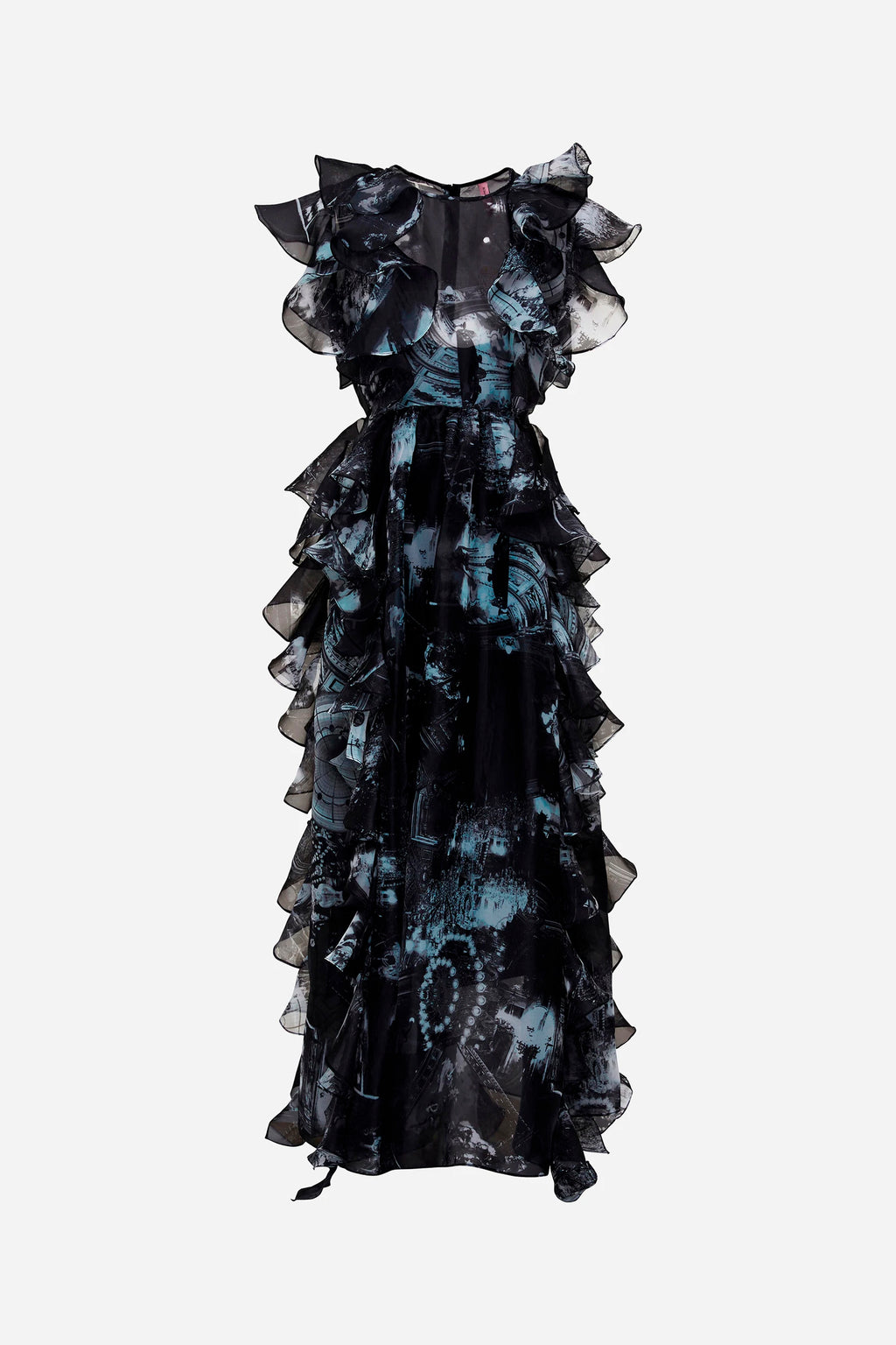 PARIS VEGAS RUFFLE GOWN