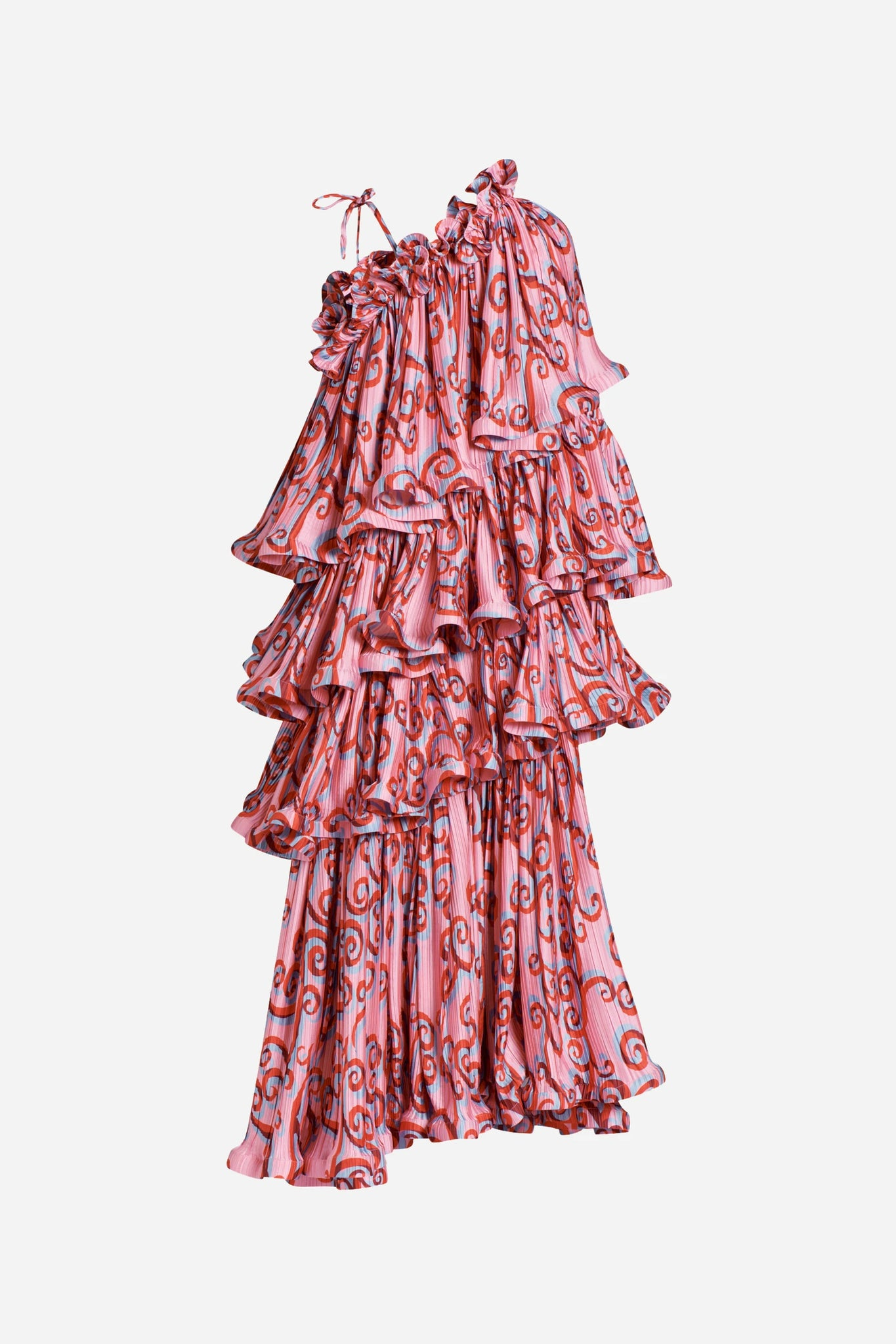 Psychedelic Vine Tiered Gown