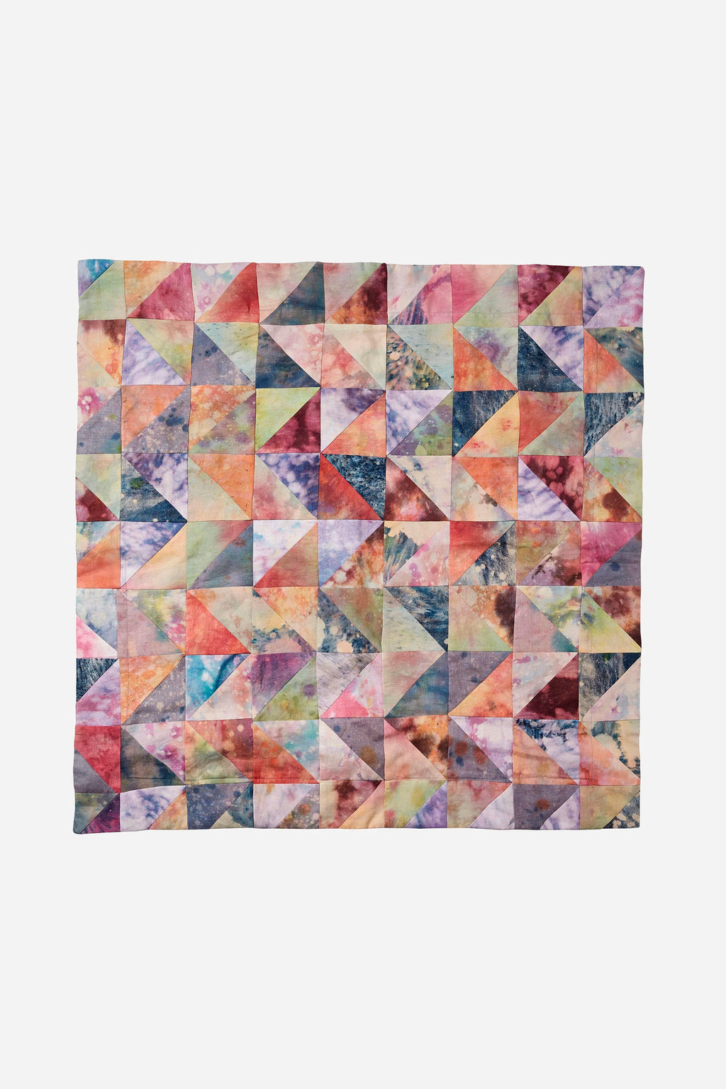 TRIANGLE PATCHWORK ART-DYE EUROPEAN PILLOWCASE