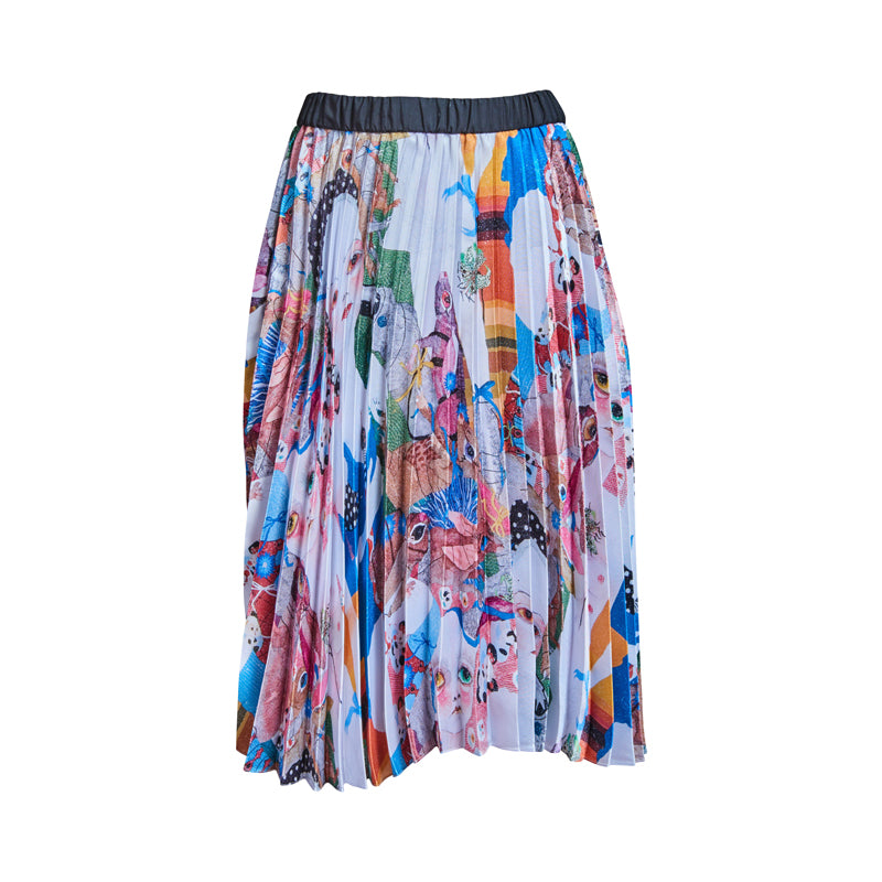 Earth Pleated Skirt