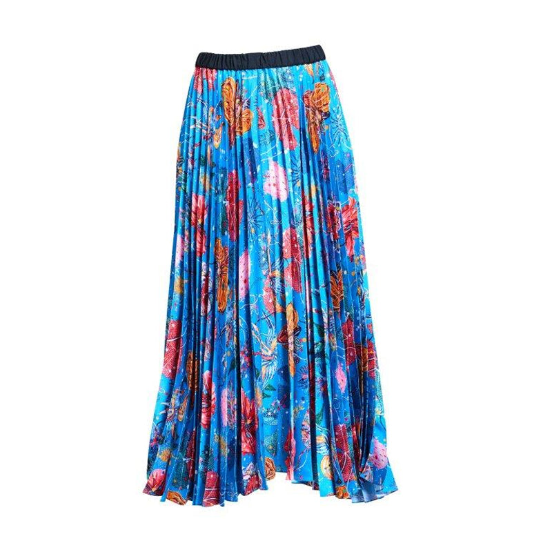 Feed My Flowers Pleat Skirt