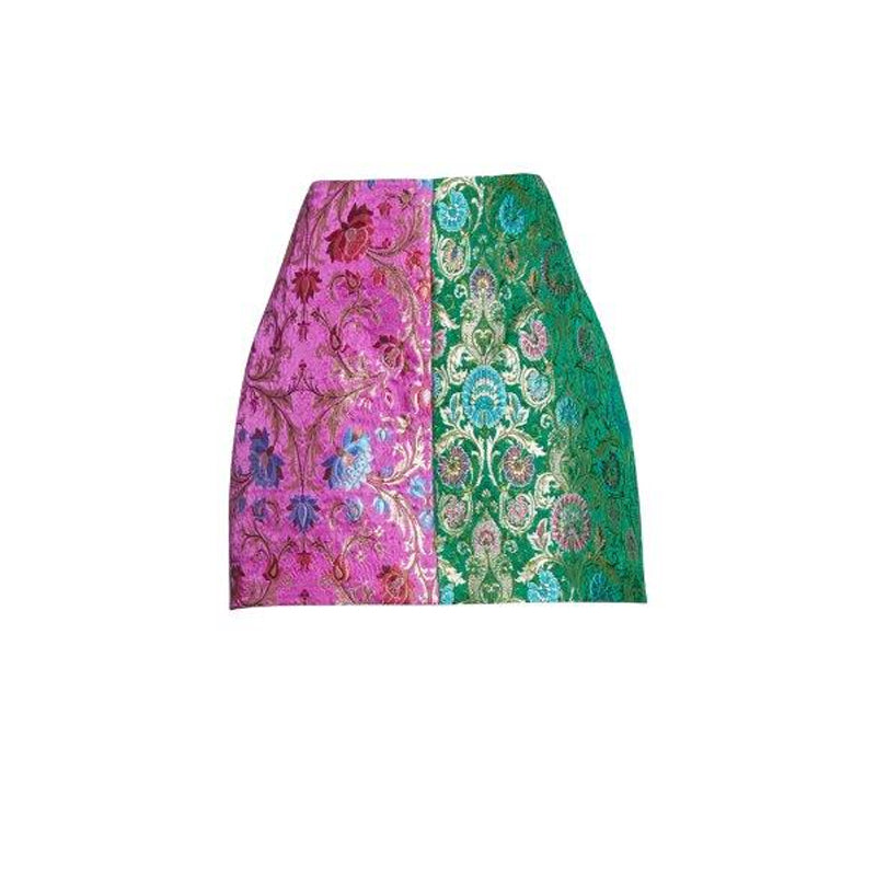 Harlequin Brocade Skirt