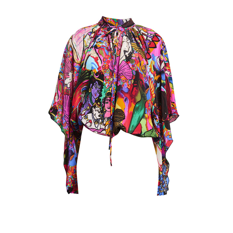 OPAL GODDESS SILK BLOUSE