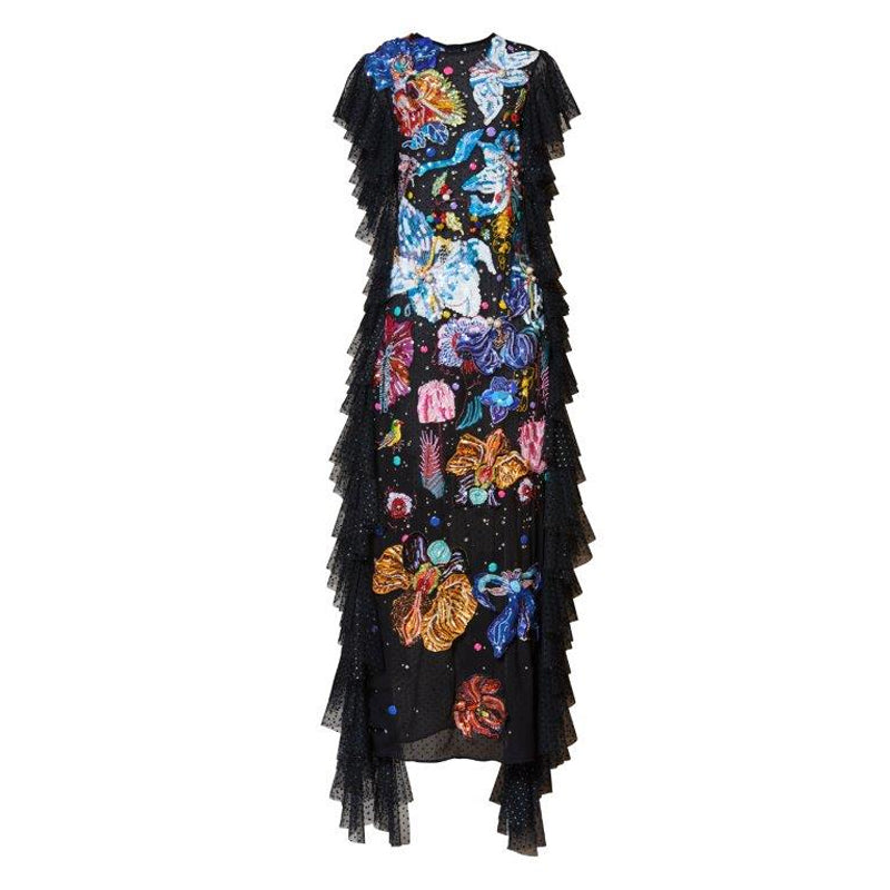 Sorceress Embroidered Gown