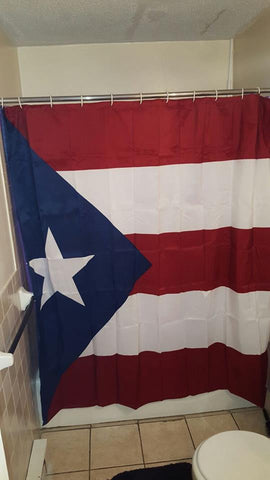 puerto rico flag shower curtain