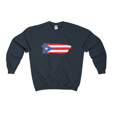 Puerto Rico Map Heavy Blend™ Adult Crewneck Sweatshirt