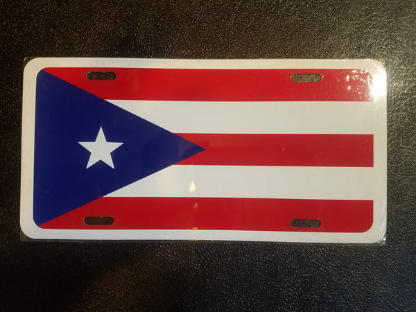 Puerto Rico Flag - License plate