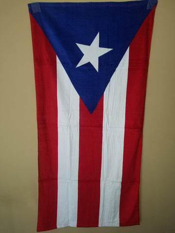 Puerto Rico Flag Beach Towel