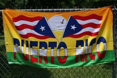 Puerto Rico 2 Flags Beach Towel