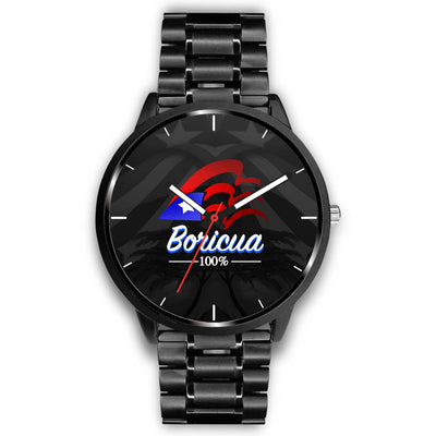 Boricua 100% Original Watch (Black Background)