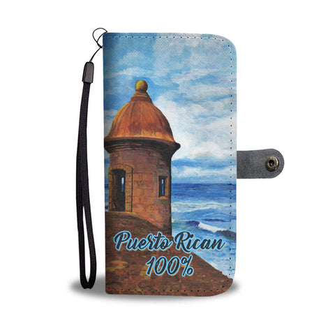 "Puerto Rican 100% ""El Morro"" Wallet Case Limited Edition."
