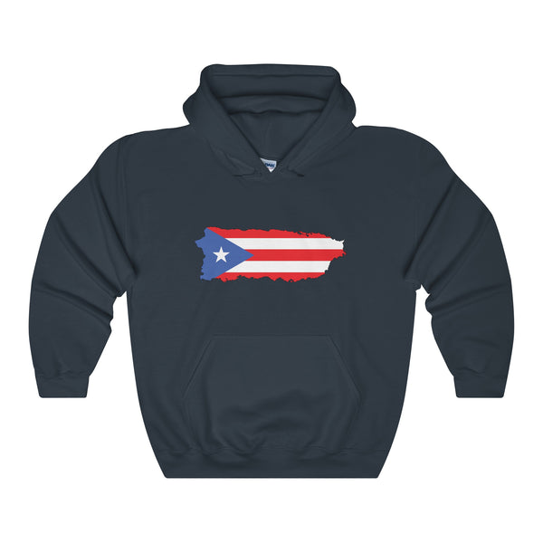 Puerto Rico Map Unisex Heavy Blend Hooded Sweatshirt
