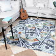 Non-Slip 100 Dollar Bill Area Rug