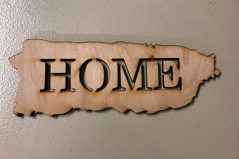 "Puerto Rico Island Wall Art ""Home"""