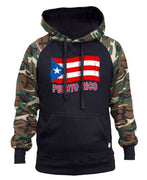 PUERTO RICO FLAG MILITARY (CAMO AND BLACK) HOODIE