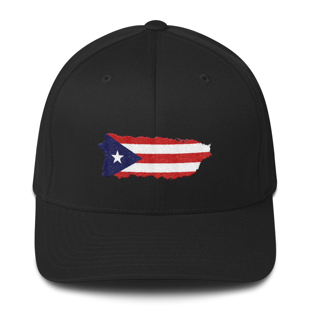 Puerto Rico Mao Structured Twill Cap