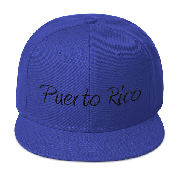 Puerto Rico Base Ball Snapback Hat