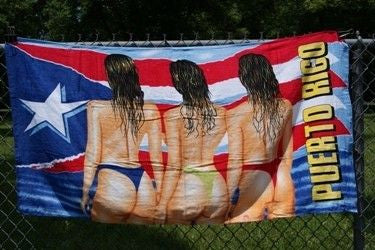 "Puerto Rico 3 Women Beach Towel 30""x60"