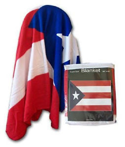 "Puerto Rico Polar Fleece Blanket (size 50""x60"")."