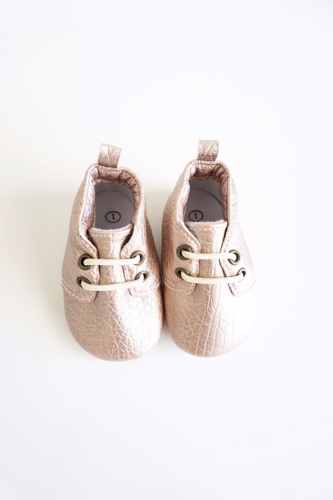 Shoes, Sweet n Swag, Paisley & Eloise,Moxfords- Rose Gold - Paisley & Eloise
