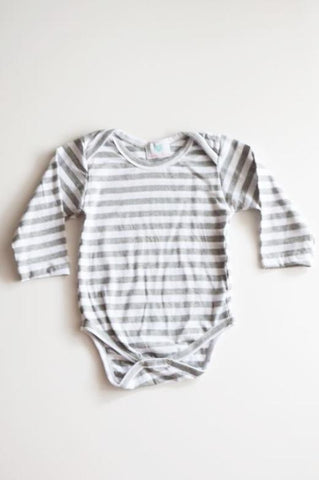 Elliot Grey Stripe Onesie