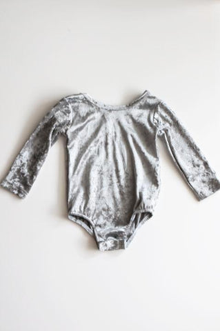Gracie Grey Velvet Leotard