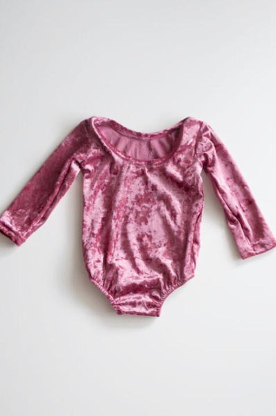 London Mauve Velvet Leotard