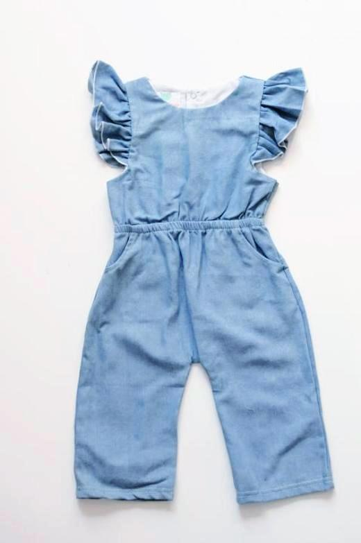 Holly Denim Romper