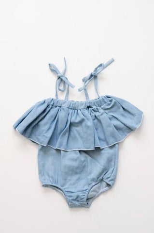 Holly Denim Off Shoulder Leotard