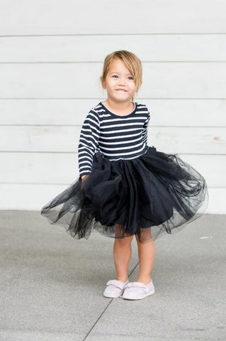 Millie Stripe Tulle Dress