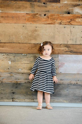 Millie Stripe Twirl Dress