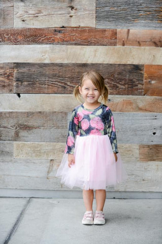 Mia Floral Velvet Tulle Dress