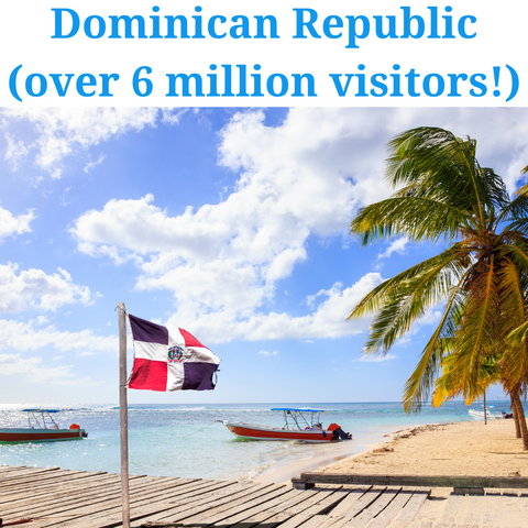 most visited caribbean island- dominican republic