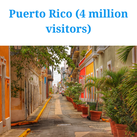 most visited caribbean island- puerto rico
